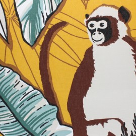 Tissu toile de coton Ubud - jaune x 50cm