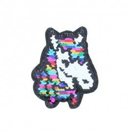 Reversible Sequin Sewing Patch - Rainbow Horse