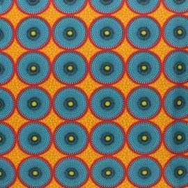 Tissu coton cretonne Wonga - rouge x 10cm
