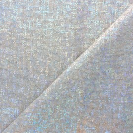 Tissu polycoton Disco - argent x 10cm