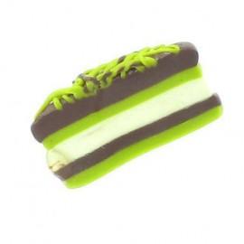 Fimo charm, cheesecake - multicolored