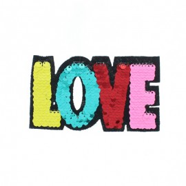 Écusson à Coudre Réversible Love - Multi