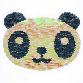 Écusson à Coudre Réversible Panda XL - Corail/Argent