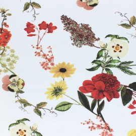 Tissu Gabardine Lycra Herbier - écru x 10cm