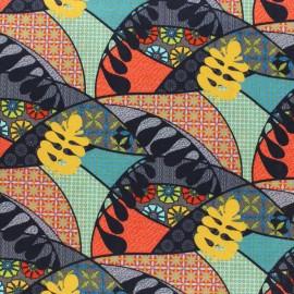 Tissu coton Mexicali - Rouge x 10cm