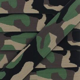 Ruban Élastique Militaire 40 mm - Kaki x 1m