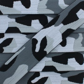 40 mm Military Elastic Ribbon - Grey x 1m