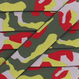 40 mm Military Elastic Ribbon - Multi x 1m