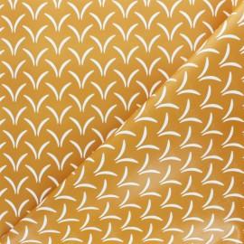 Tissu toile cirée Ciglio - moutarde x 10cm