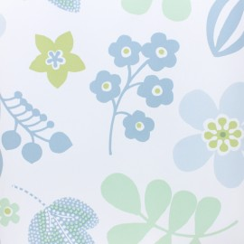 Oilcloth fabric - white Hello Summer x 10cm
