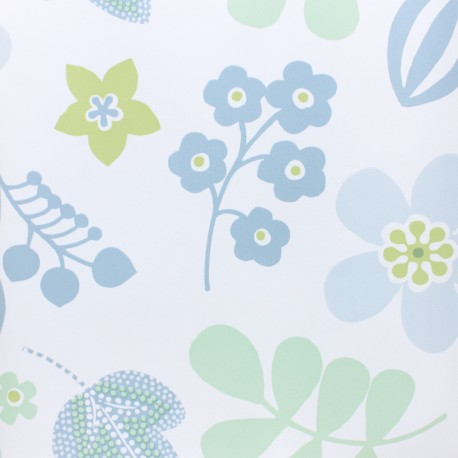 Tissu toile cirée Hello Summer - Blanc x 10cm