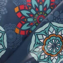 Tissu toile cirée Persepolis - bleu x 10cm