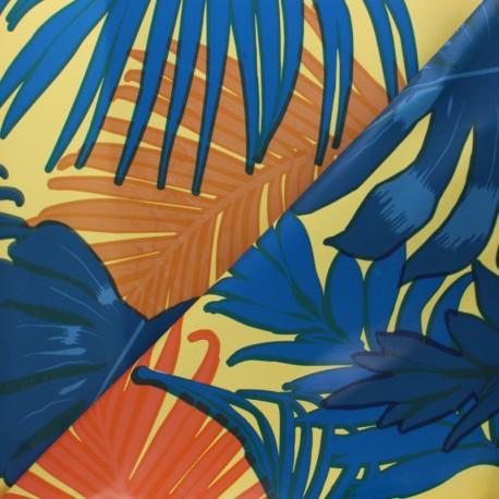Tissu toile cirée Caipirinha - jaune x 10cm