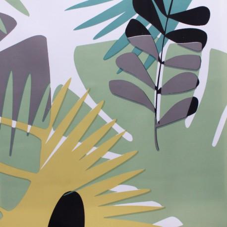 Tissu toile cirée Fidji - Blanc x 10cm