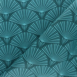 Tissu polycoton enduit mat - Vika - gris x 10cm