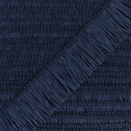 Rafia Fringe Trimming Ribbon - Navy Blue x 1m
