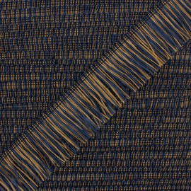Galon à Franges Raphia - Bleu/Naturel x 1m