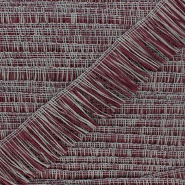 Rafia Fringe Trimming Ribbon - Plum/Grey x 1m
