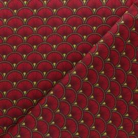Tissu coton cretonne Doucet - vert x 10cm