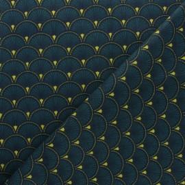 Cretonne cotton fabric - red Doucet x 10cm