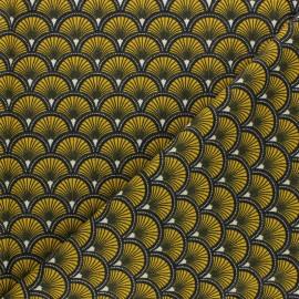Tissu coton cretonne Doucet - bleu marine x 10cm