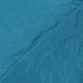 Tissu taffetas uni bleu paon x 10cm