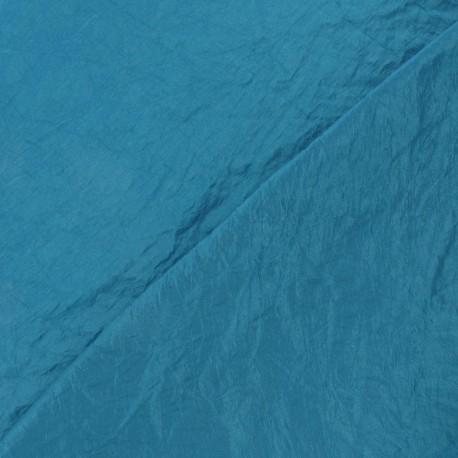 Fabric taffetas uni bleu paon x 10cm