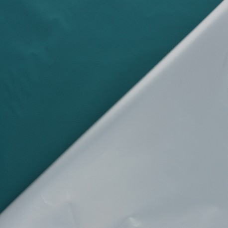 Light Blackout Polyester fabric - teal blue Scandia x 10cm