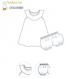 Patron l'Enfant Roi Robe Colombe- 3 mois à 3 ans
