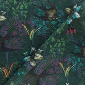 Cotton fabric - Green Tropical Swallow x 10cm