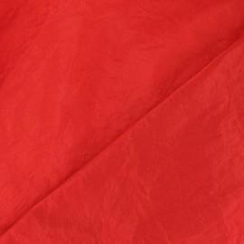 Tissu taffetas uni rouge x 10cm