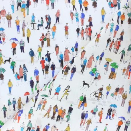 Cotton fabric - Raw City walk x 10cm
