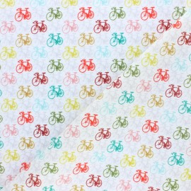 Cotton fabric - Raw biking time x 10cm