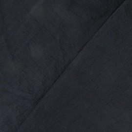 Tissu taffetas uni bleu nuit x 10cm