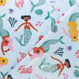 Coated cotton fabric Rico Design - blue Mermaid x 25cm