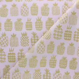 Tissu coton Dashwood Ocean Drive - Ananas doré x 10cm