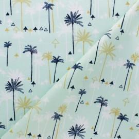 Tissu coton Dashwood Ocean Drive - Palmier doré x 10cm