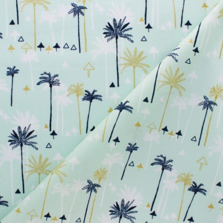 Cotton Dashwood fabric - Green Palm tree x 10cm