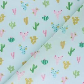 Cotton Dashwood fabric - Green Palm tree x 10cm