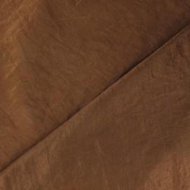 Tissu taffetas uni noisette x 10cm