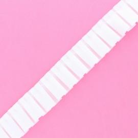Galon Plissé Polyester Aura - Blanc x 1m