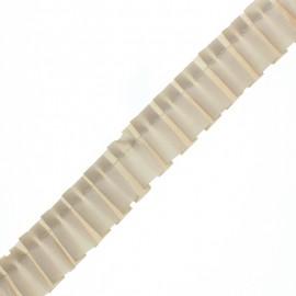 Galon Plissé Polyester Aura - Beige x 1m