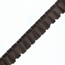 Galon Plissé Polyester Aura - Chocolat x 1m