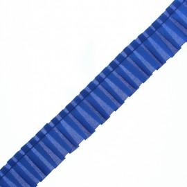 Galon Plissé Polyester Aura - Bleu Roi x 1m