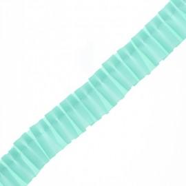 Galon Plissé Polyester Aura - Vert Menthe x 1m