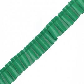 Galon Plissé Polyester Aura - Vert x 1m