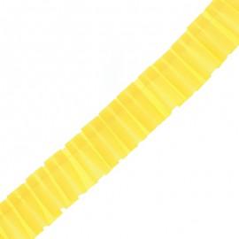 Galon Plissé Polyester Aura - Jaune x 1m