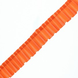 Galon Plissé Polyester Aura - Orange x 1m