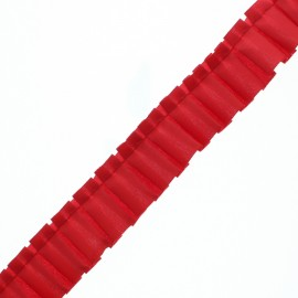 Polyester Pleated Trim - Red Aura x 1m