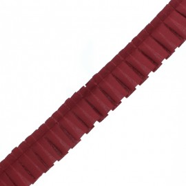 Polyester Pleated Trim - Burgundy Aura x 1m